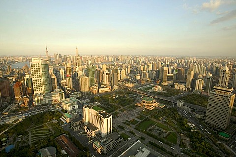 Cityscape from the Marriott Hotel, Shanghai, China, Asia