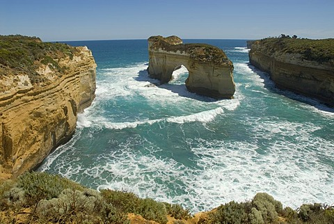 Great Ocean Road, Loch Ard Gorge, cliffs and coastal landscape, Southern Ocean, Victoria, Australia