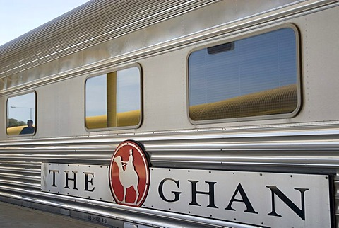 The Ghan Train at the station, Adelaide, South Australia, Australia