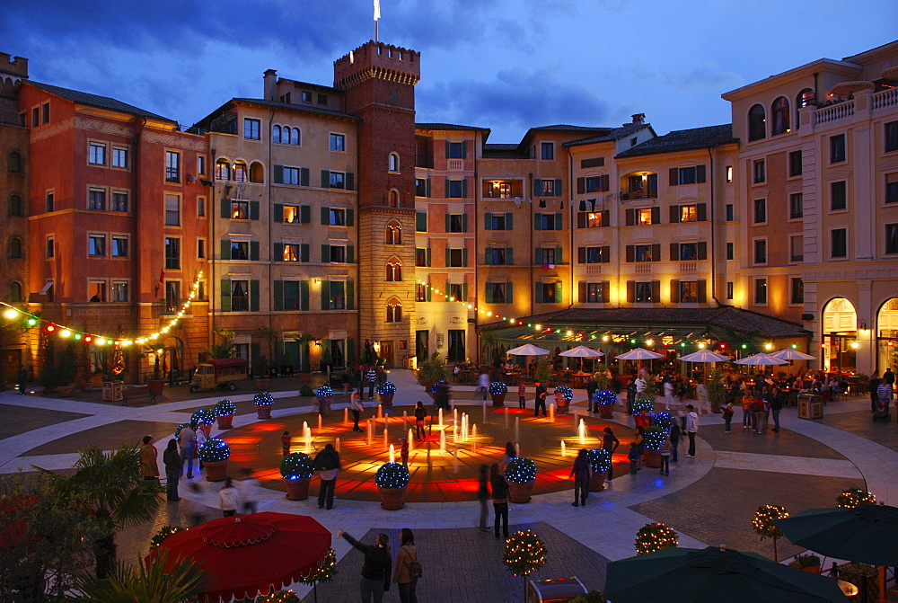 Colosseo Hotel in the Europapark Amusement Park, Freiburg, Baden-Wuerttemberg, Germany, Europe
