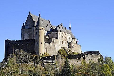 Ch√¢teau de Vianden, Vianden Castle, Vianden, Luxembourg, Europe, PublicGround