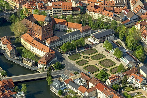 Aerial view, Bamberg, Upper Franconia, Bavaria, Germany, Europe