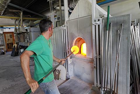 Pino Signoretto, famous glass factory, Murano, Venice, Venetia, Italy, Europe