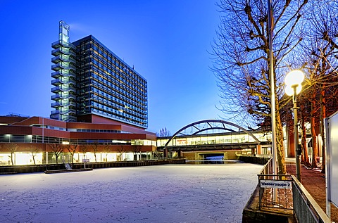 City-Center Bergedorf and Serrahn harbour in Bergedorf, Bergedorf, Hamburg, Germany, Europe