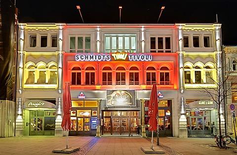 Schmidt's Tivoli on Spielbudenplatz square in St. Pauli, Hamburg, Germany, Europe