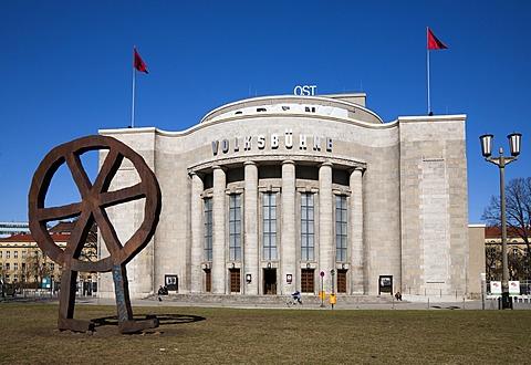 Volksbuehne theatre in Rosa-Luxemburg-Platz square, Mitte quarter, Berlin, Germany, Europe