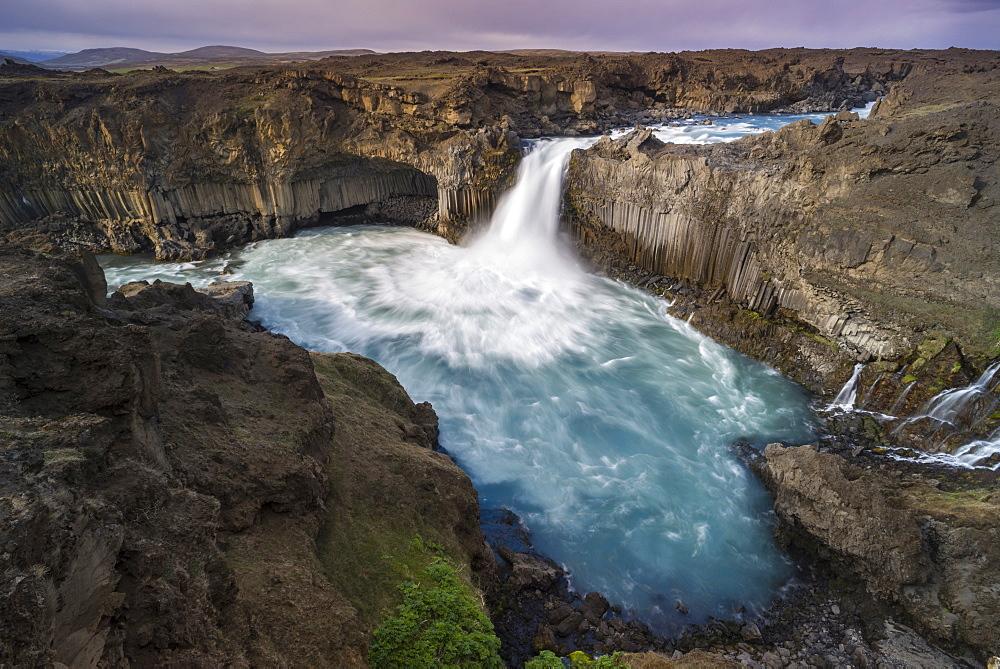 Aldeyjarfoss waterfall on the Skjalfandafljot river, Sprengisandur highland road, Highlands of Iceland, Iceland, Europe