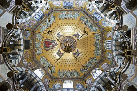 Octagon, Aachen Cathedral, UNESCO World Heritage Site, Aachen, North Rhine-Westphalia, Germany, Europe