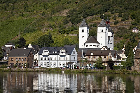 Former collegiate and parish church of St. Castor, or Moseldom, Karden district, Treis-Karden, Moselle river, Rhineland-Palatinate, Germany, Europe, PublicGround