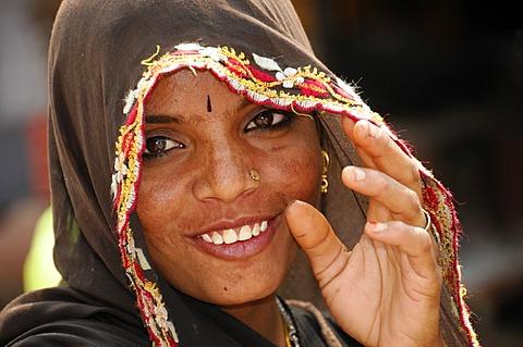 Young Indian woman, Kota, Rajasthan, North India, Asia