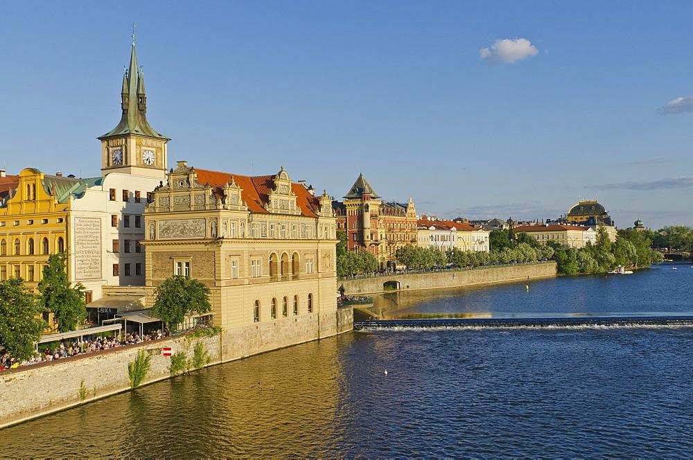 Národní divadlo, National Theatre, Vltava river, Prague, Czech Republic, Europe