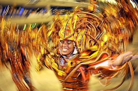 Samba school Portela, Carnaval 2010, Sambodromo, Rio de Janeiro, Brazil - 832-368919