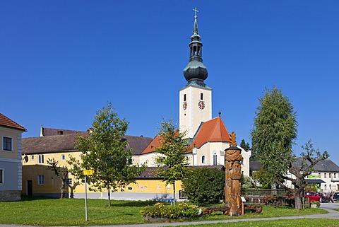 Church in Grossschoenau, Waldviertel, Forest Quarter, Lower Austria, Austria, Europe