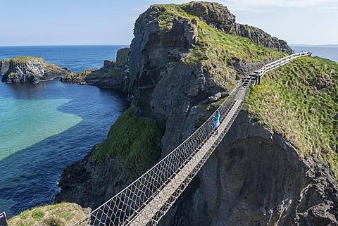 Carrick-a-Rede Bridge, suspension bridge, Moyle, Northern Ireland, United Kingdom, Europe
