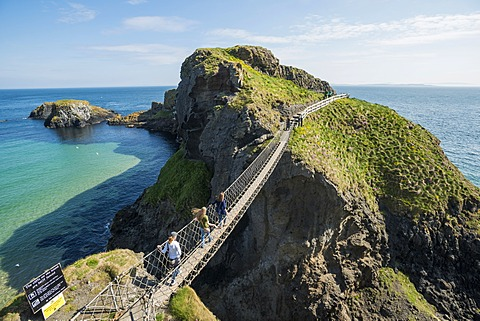 Carrick-a-Rede Bridge, suspension bridge, Moyle, Northern Ireland, United Kingdom, Europe