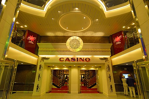 Casino at the promenade deck of the car ferry Color Fantasy from Kiel to Oslo - 832-369430
