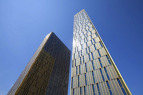 Office towers, Court of Justice of the European Union, CJEU, European quarter, Kirchberg-Plateau, Luxembourg City, Europe, PublicGround