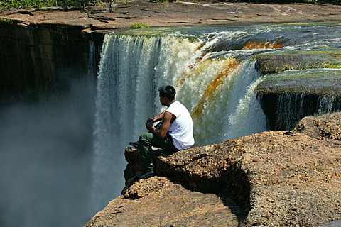 Visitor, Kaieteur Waterfalls, Guyana, South America