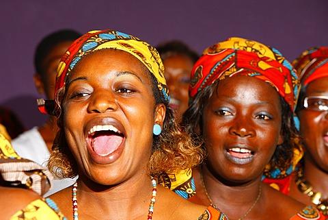 Women singing, church choir, wedding, Bamenda, Cameroon, Africa