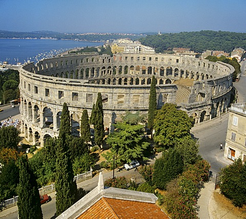Arena di Pula, Roman amphitheatre, Istria, Mediterranean, Croatia, Europe