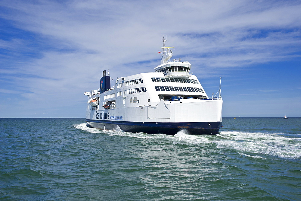 Scandlines ferry, Prins Richard, at the ferry terminal, Puttgarden, Fehmarn Island, Baltic Sea, Schleswig-Holstein, Germany, Europe