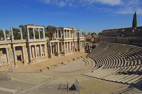Roman theatre, Merida, Badajoz province, Extremadura, Spain, Europa