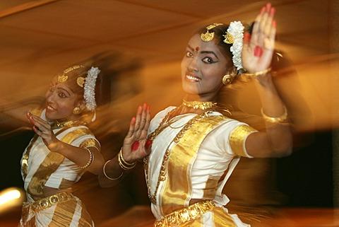 Traditionell Mohiniattam dance, Kerala, India