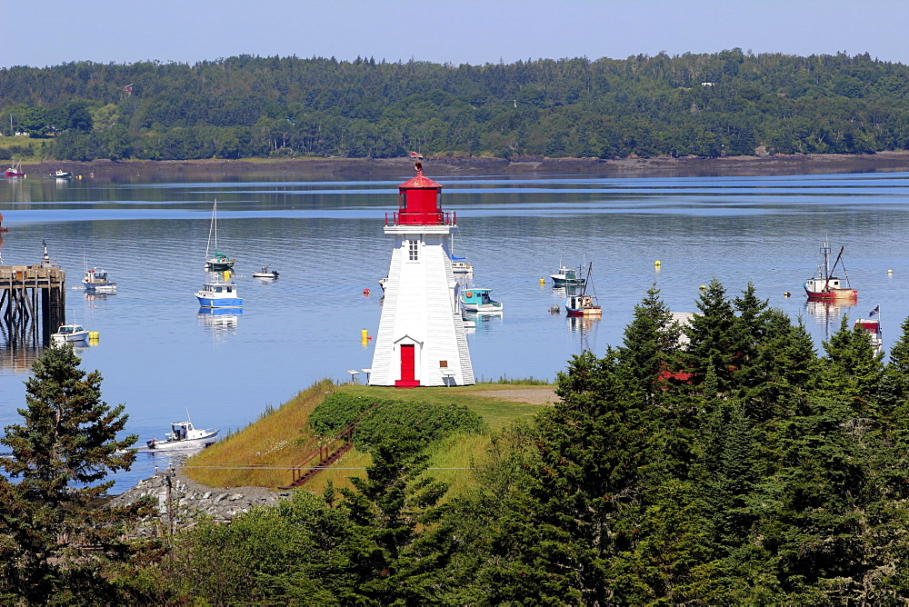 Mulholland Point Lighthouse, Campobello Island, Atlantic Coast, New Brunswick, Canada