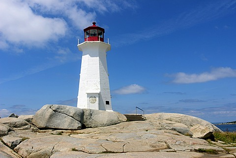 Peggy's Cove lighthouse, Halifax, Atlantic Coast, Maritime Provinces, Nova Scotia, Canada