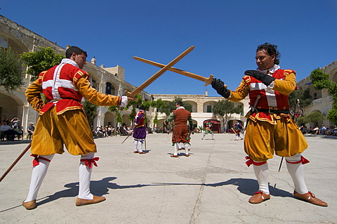 In Guardia Parade at Fort St Elmo, Valletta, Malta, Europe