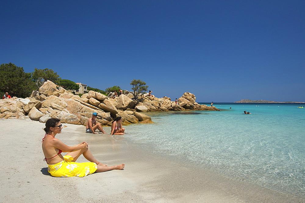 Capriccioli beach, Costa Smeralda, Sardinia, Italy, Europe