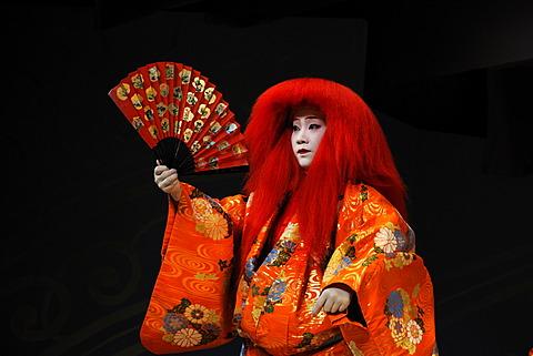 Miyako-Odori, Maiko dance by a Geisha candidate in spring, Gion District, Kyoto, Japan, Asia