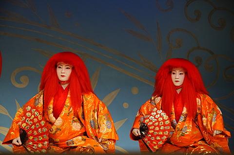 Miyako-Odori, Maiko dance by Geisha candidates in spring, Gion District, Kyoto, Japan, Asia