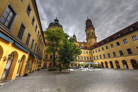Theatinerhof, Theatiner courtyard, historic centre, Munich, Bavaria, Germany, Europe