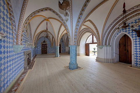 Schloss Stolzenfels Castle, interior, Koblenz, UNESCO World Heritage Upper Middle Rhine Valley, Rhineland-Palatinate, Germany, Europe, PublicGround