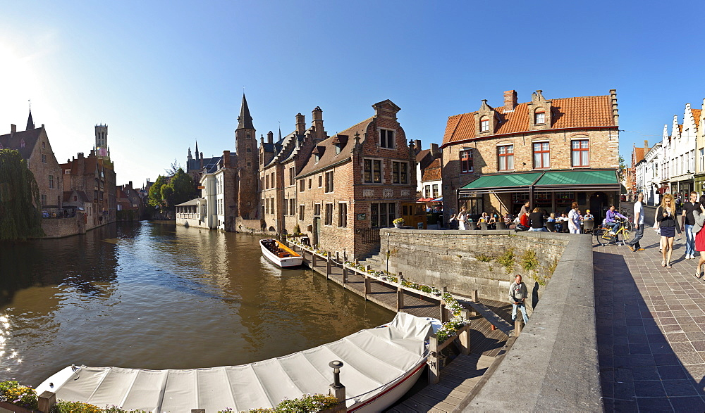 Historic Centre at Rozenhoedkaai, Quai of the Rosary, historic town centre of Bruges, UNESCO World Heritage Site, West Flanders, Flemish Region, Belgium, Europe