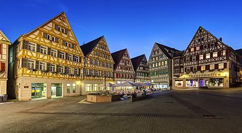 The marketplace of Herrenberg, Baden-Wuerttemberg, Germany, Europe, PublicGround