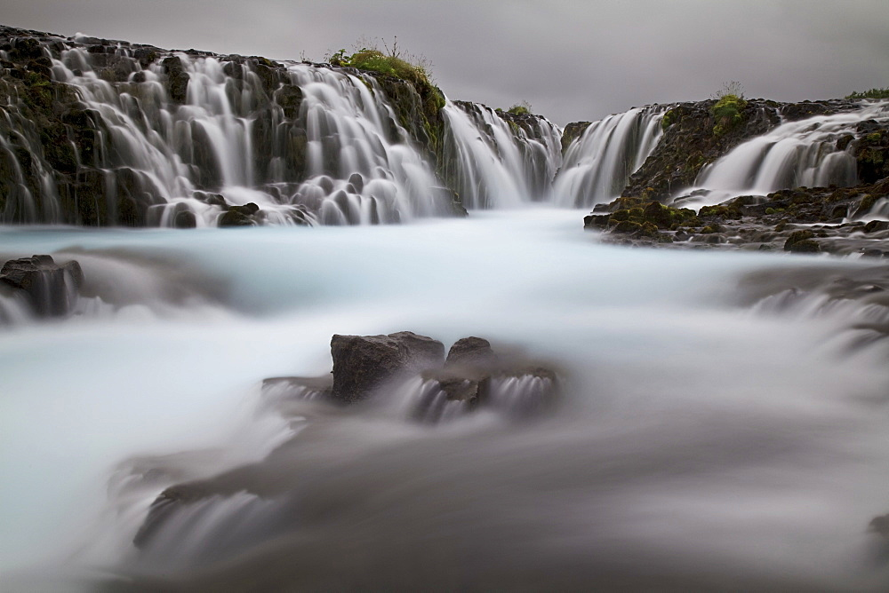 Bruarfoss waterfall, a waterfall on the Bruara river, southern Iceland, Europe