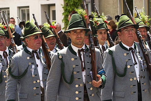 Costume and Riflemen\'s Procession in Wolfratshausen - Bavaria