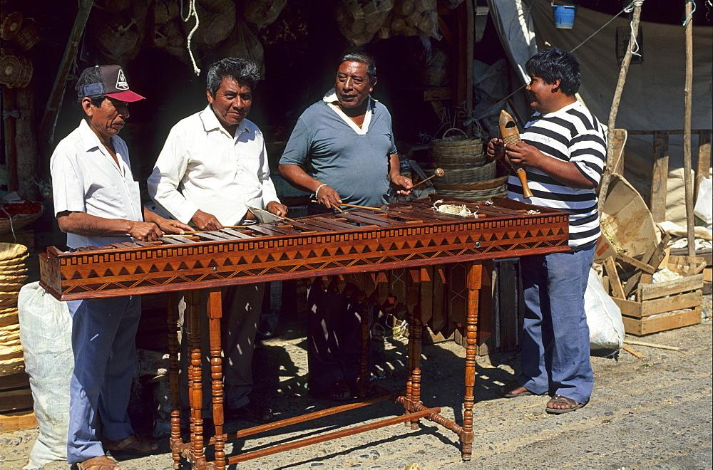 Mexico Oaxaca Salina Cruz Marimba