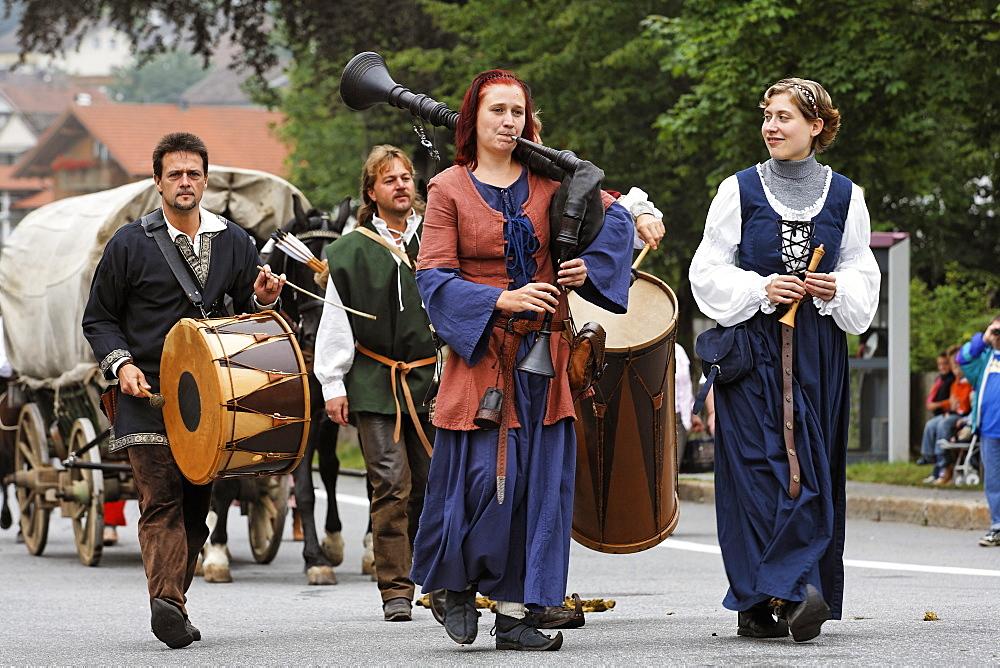 Historical Saeumer festival, Grafenau, Bavarian Forest, Lower Bavaria, Germany