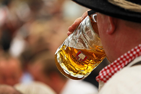 Spaten beer, Oktoberfest, Munich beer festival, Bavaria, Germany - 832-371653