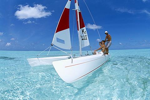 Catamaran, Olhuveli, Southern Atoll, Maledives