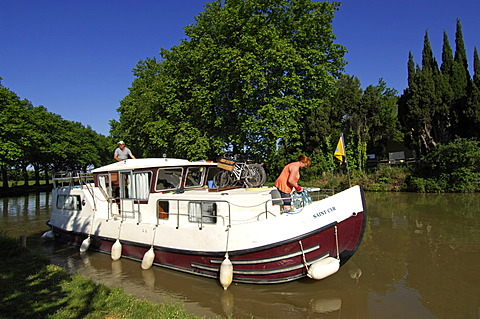 Boat, Canal du Midi, Midi, France, Europe