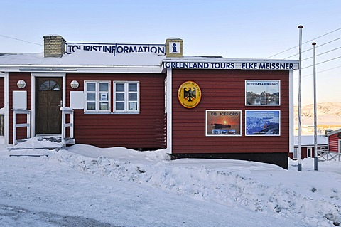 Elke Meissner's travel agency and honorary consulate, Ilulissat, Greenland, Arctic North America