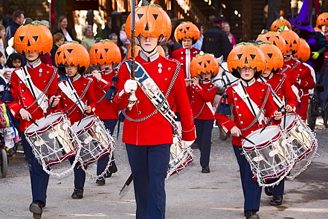 Halloween decorated music guards in Tivoli, Copenhagen, Denmark