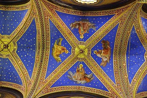 Ceiling design, Basilica di Santa Maria sopra Minerva, Basilica of Saint Mary Above Minerva, Rome, Italy, Europe