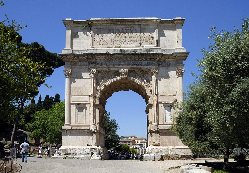 Arch of Titus, triumphal arch, Rome, Italy, Europe