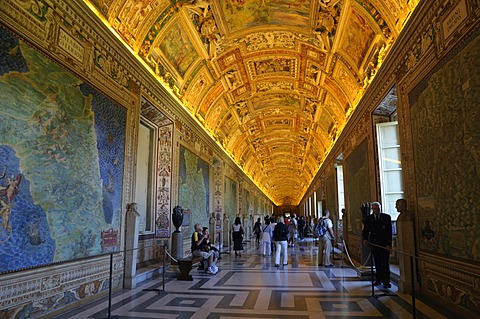 Gallery of Maps, Vatican Museums, Vatican, Rome, Italy, Europe