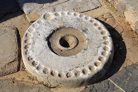 Kernos, altar stone, Minoan Palace of Malia, Crete, Greece, Europe